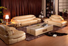 Classic Hand Carve Genuine Leather Sofa (A156)