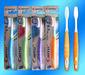 Colorful soft TPE handle adult toothbrush