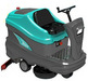 Ride-on floor scrubber dryer