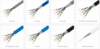 UTP cat5e/cat6 network cables in communication cable