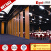 Acoustic movable partition wall interior