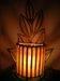 Cane Night Lamp Leaf Style