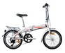 Electric bicycle folding
