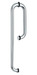 Glass door pull handle for 8-12mm glass