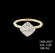 18K Yellow Gold and Rose Gold Diamond Ring