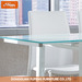 DT-914 Tempered Glass Top Metal Base Dining Table
