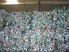 Pet plastic bottles in bales