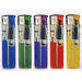Plastic, electronic, flint, gas lighter