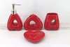 Love shape handmade ceramic bathroom set