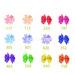 Baby girl hair bows dot print grosgrain ribbon