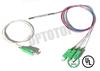 1X3 1310 1550 nm Single Mode Fiber Coupler, Fused FBT Splitter For FT