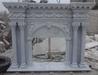 White limestone/marble fireplace