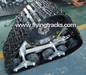 Rubber track system for minibus