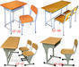 School Furniture, School Desk, Student Desk, School Chair, School Table