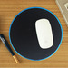 Factory Supply Custom Black Round Gaming Mouse Pad