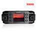 Car black box Car DVR X8000 dual rotating lens with GPS logger