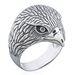 Oxidized Sterling Silver Eagle Head Ring