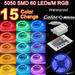 5050 SMD 60pcs leds/m non waterproof RGB Flexible LED Strip Light