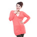 2013 Casual V Neck Long Sleeve Buttons Dots Jacquard Ladies Cardigan