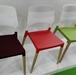 Plastic leisure chair w. beech wood legs  XRB-088