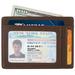 Real Genuine Leather Mens Womens Slim Minimalist RFID Blocking Wallets