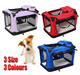 New Folding Fabric Soft Portable Pet Dog Cat Crate Puppy Kennel Cage