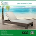 Outdoor Furniture Rattan Chaise Lounge/Sun lounger/Daybed with canopy