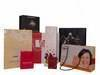Gloss laminated paper bags with a cotton handle