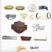 Custom Engraving Logo Metal Plate metal aceessories for handbag