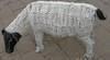 Beaded Sheep Sculpture