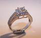 Princess Cut Split Band Diamond Ring