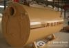 Gas oil fired three pass hot water boiler
