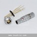 Touch 0B 2pin straight plug FGG.0B.302 connector for Analyzers