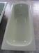 Enameled steel bathtub and shower tray