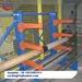 Blue Cantilever Rack for Steel Board Storage