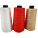 Polyester thread sewing embroidery thread dyed colorful twist thread