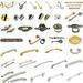 Cabinet handles, glass handles, furniture handles