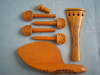 Violin boxwood carved fittings