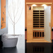 Far infrared sauna room as personal care hot therapy beauty equipment