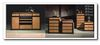 Home Adjustable Glass Shelves Bar Cabinet  Living Decor
