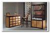 Home Adjustable Glass Shelves Bar Cabinet  Living Decor