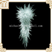 Hand made blown decoration art colored large white crystal murano glas