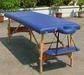 Portable hard wood massage table