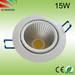 New design!!1700lm high output 15w cob led downlight
