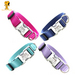 Metal Engraved Personalized Webbing Dog Collar *18 colors