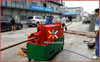 Construction steel tube retreading machine