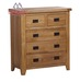 316 solid oak 2 over 3 chest
