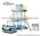 Maquina de film envasado para alimentos y elastico de dos capas