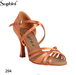 Suphini Black Dark Tan Latin Salsa Ballroom Dance Shoes