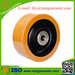 Cast iron centre polyurethane tyred castor wheels with ball bearing